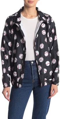 Love Moschino Baseball Print Zip Front Jacket