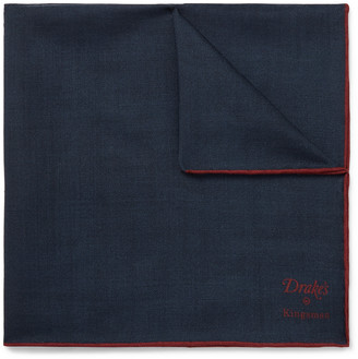 Kingsman + Drake's Wool And Silk-Blend Pocket Square