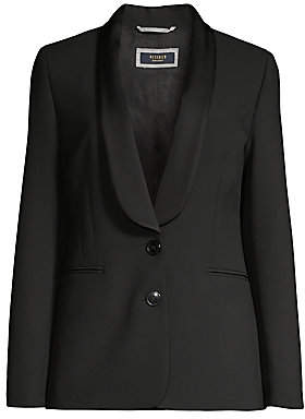 Peserico Women's Satin Shawl-Collar Stretch-Ponte Blazer