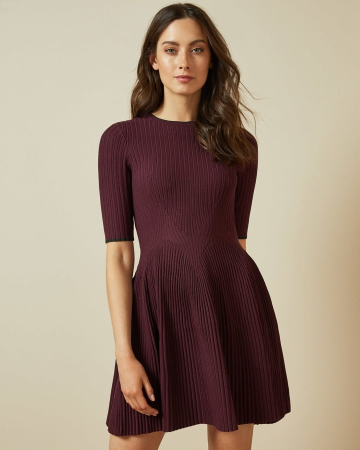 Thumbnail for your product : Ted Baker Stretch Knitted Skater Dress