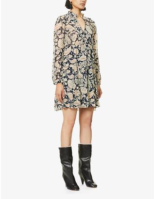 BA&SH Azur floral-print crepe mini dress