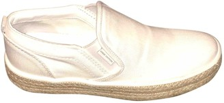 Louis Vuitton White Cloth Trainers