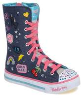 Skechers Girl's Twinkle Toes Shuffles Ultra High Top Sneaker