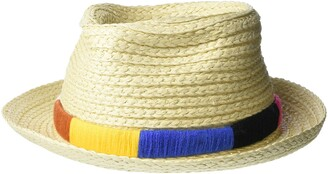 Nine West Women's Textured Braid Pork Pie Fedora