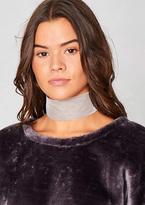 Missy Empire Audria Grey Velvet Thick Choker