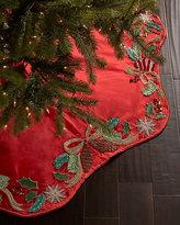 Kim Seybert Frosted Pine Christmas Tree Skirt