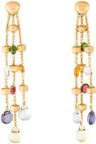 Marco Bicego 18K Mixed Stone Paradise Three Strand Earrings