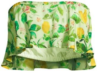 Pq Mila Lemon Off-The-Shoulder Top