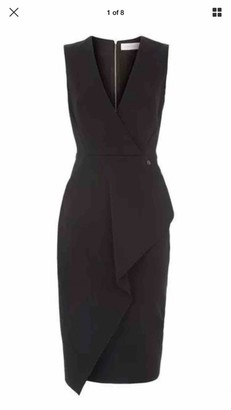 Victoria Beckham Black Wool Dresses