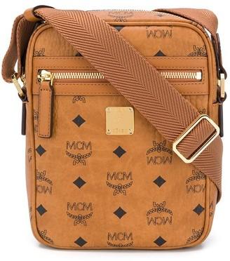 MCM Logo Print Shoulder Bag