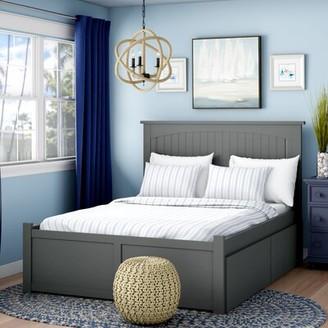 Beachcrest HomeTM Mutchler Storage Platform Bed Beachcrest Home Color: Gray, Size: Queen