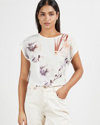 Ted Baker LYLIE Vanilla woven front t-shirt