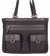 Gucci Women's Denim Abbey Pockets GG Guccissima Tote Handbag