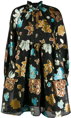 Stine Goya Floral Print Tiered Dress