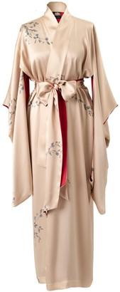 Castlebird Rose Le Perroquet Maxi Silk Kimono - Sunset Gold