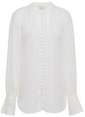Joie Gathered Silk-crepe Blouse