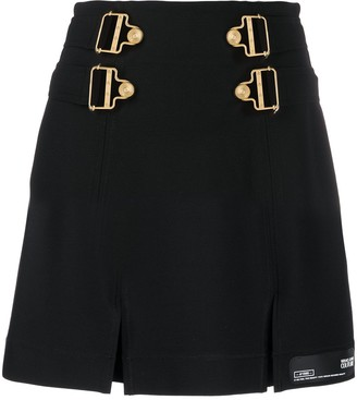 Versace Jeans Couture Buckled Detail Mini Skirt