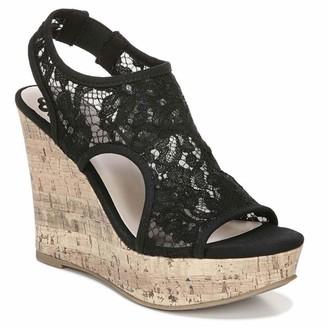 Fergie Womens Vandalia Black Strappy Sandals 8.5 M
