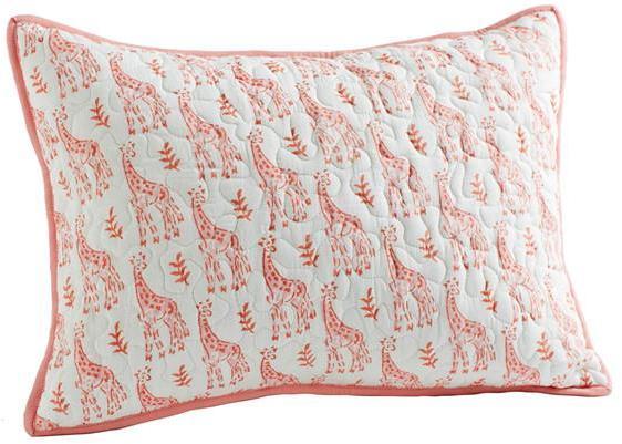Rikshaw Organic Giraffe Pink Boudoir Pillow
