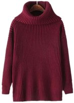 LOVEBEAUTY Women's Casual Turtleneck Chunky Cable Knit Sweater Pullover Cardigan