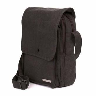 Medium Messenger Shoulder Bag by Sativa Hemp Bags - Grey