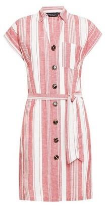 Dorothy Perkins Womens Red Stripe Print Shirt Dress, Red