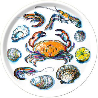 Michael Angove - Seafood Round Tray - White