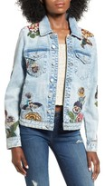 Blank NYC Women's Blanknyc Embroidered Denim Jacket