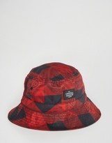 Criminal Damage Bucket Hat Lumberjack Print