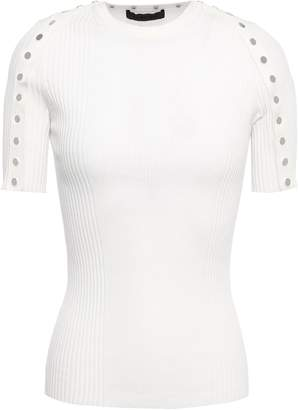 Alexander Wang Button-detailed Ribbed Cotton Top