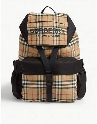 Burberry Nylon check backpack
