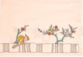 Janavi India Embroidered Bird Shawl