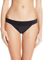 Sofia by Vix Women's Solid Black So Band Full Bikini Bottom