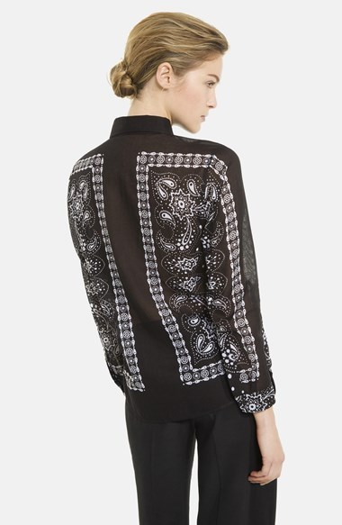 Sandro 'Colt' Print Cotton Shirt