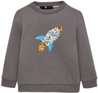 Very Boys Sequin Rocket Sweatshirt - Khaki