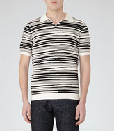 Reiss Metro Blurred Stripe Polo Shirt