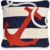 Liora Manné Frontporch Anchor Square Throw Pillow in Navy