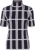 Victoria Beckham Tartan Check Knit Turtleneck