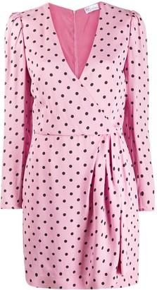 RED Valentino Polka Dot Wrap Dress