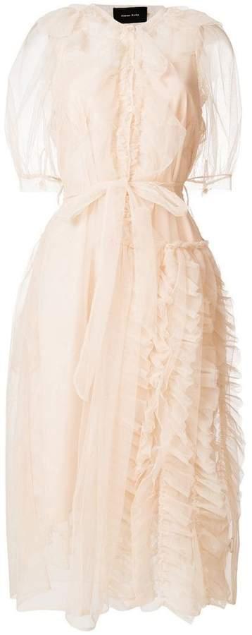 Simone Rocha ruffled sheer-overlay dress