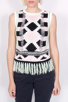 Maison Scotch Argyle Tassel Tank