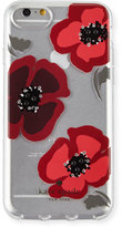 Kate Spade jeweled poppies clear iPhone 7 case
