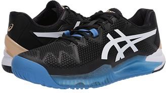 Asics Gel-Resolution 8 (Black/White) Men's Tennis Shoes