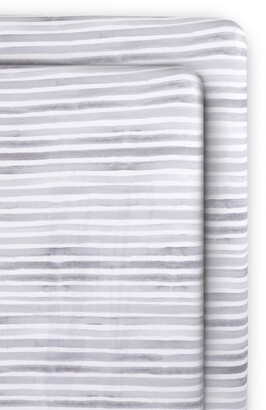 Oilo Ink 2-Pack Jersey Fitted Crib Sheets