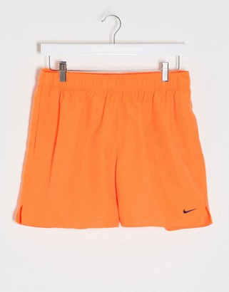 Nike Swimming 5inch Volley shorts in orange