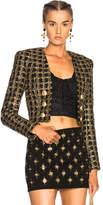 Balmain Tweed Cropped Blazer