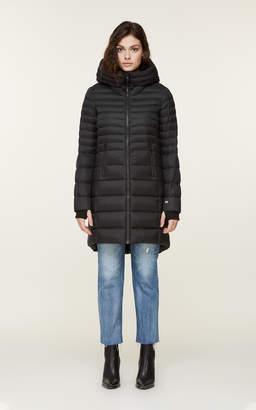 Soia & Kyo GEANA mid-length water-repellent lightweight down coat