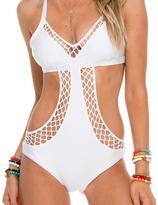 Luli Fama Sailor'S Kiss Fishnet 1Pc In White (L506782)