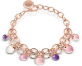Rebecca Hollywood Stone Rose Gold Over Bronze Chains Bracelet w/Hydrothermal Stones