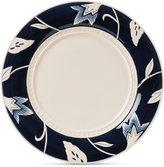 Fitz & Floyd Stoneware Bristol Indigo Floral Dinner Plate